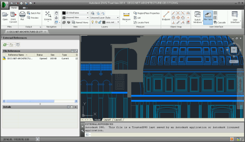CAD Drawing of the Pantheon in Rome in DWG TrueView