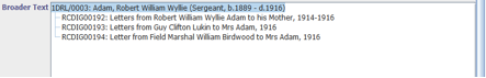 1.5 The broader text field in Mimsy XG showing the relationship between the parent collection and children